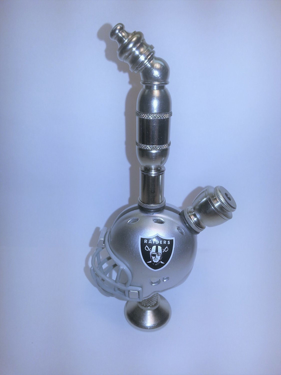 LAS VEGAS RAIDERS  NFL Football Helmet Smoking Pipe Stand Alone Design Nickel