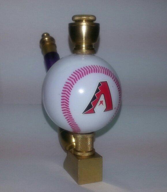Arizona Diamond Backs Baseball Pipe Wedge Design  Brass Finish