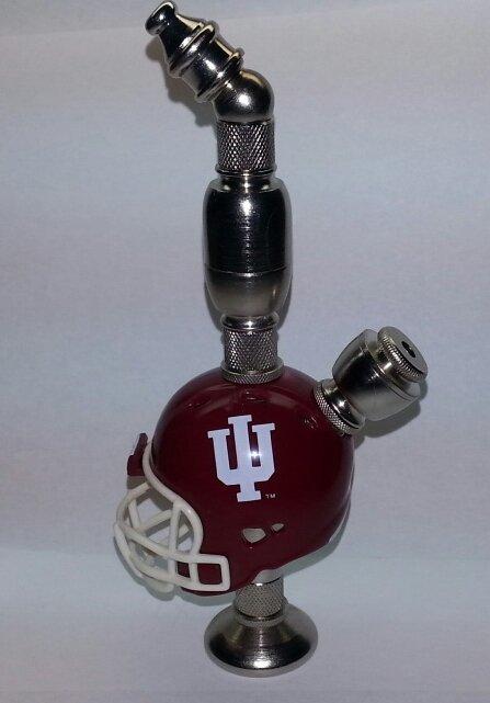 Indiana Hoosiers Football Helmet Smoking Pipe  Stand Alone  Design  Nickel