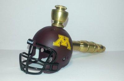Minnesota Gophers  Helmet Pipe  Straight Design  Brass Finish