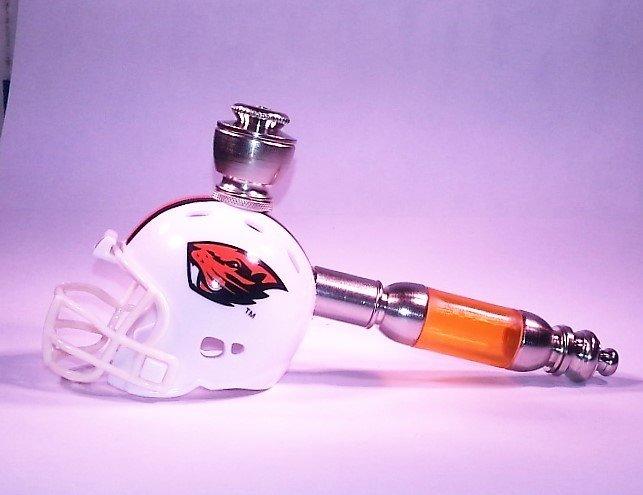 Oregon State Beavers Helmet Pipe  Straight Design  Nickel Finish