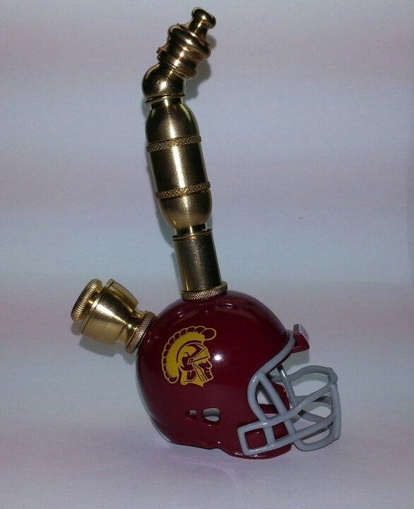 USC Trojans Helmet Pipe  Upright  Design  Brass Finish