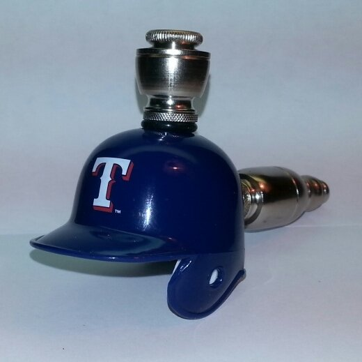 Texas Rangers MLB Helmet Pipe Straight Design Nickel Fittings