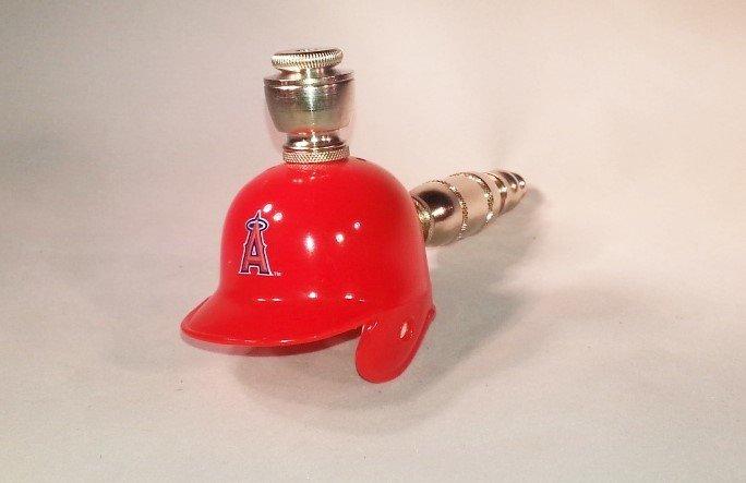 Los Angeles Angels MLB Helmet Pipe Straight Design Nickel Fittings