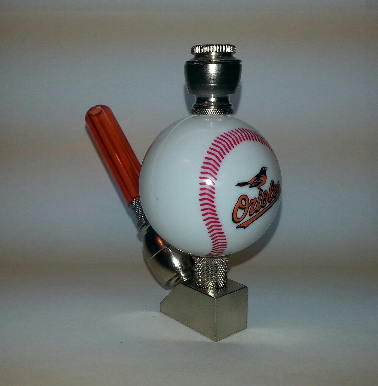 Baltimore Orioles MLB Baseball Pipe Wedge Design