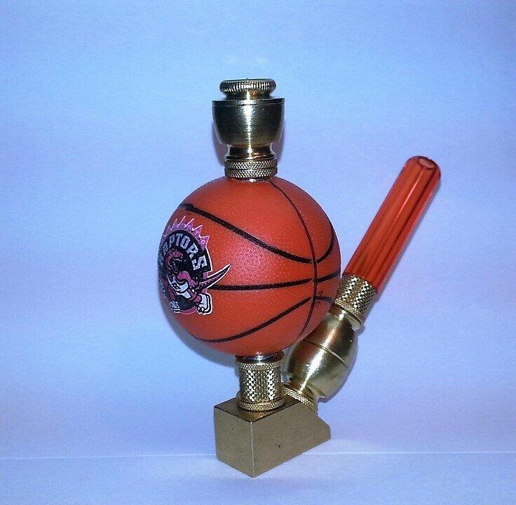Toronto Raptors NBA Basketball Pipe Wedge Design Nickel Finish