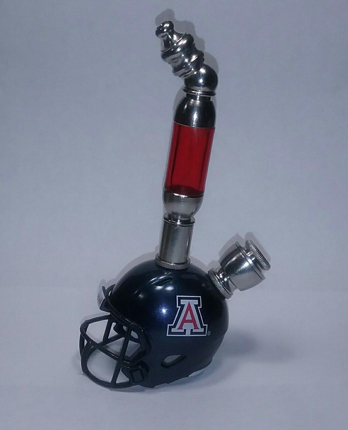Arizona Wildcats 2017  Helmet Pipe  Upright  Design  Nickel Finish