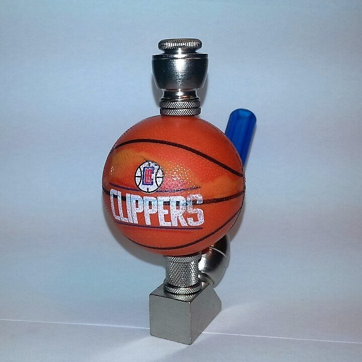Los Angeles Clippers NBA Basketball Pipe Wedge Design Nickel Finish