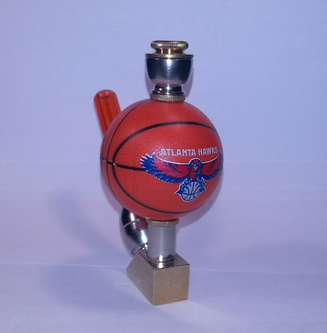 Atlanta Hawks NBA Basketball Pipe Wedge Design Nickel/Brass Finish