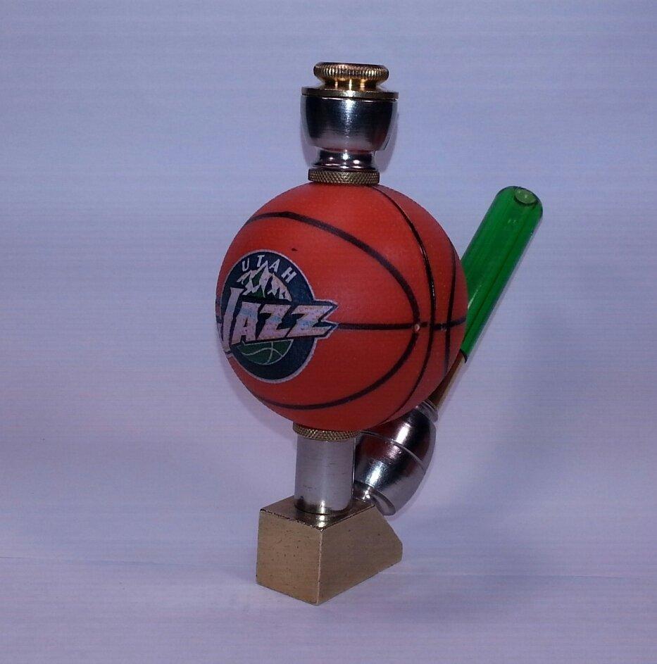 Utah Jazz NBA Basketball Pipe Wedge Design Nickel/Brass Finish
