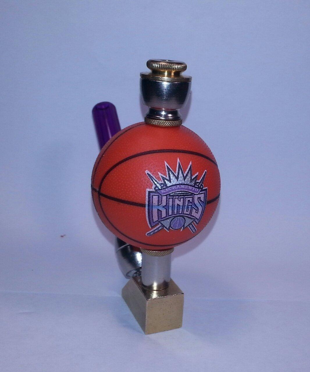 Sacramento Kings NBA Basketball Pipe Wedge Design Nickel/Brass Finish