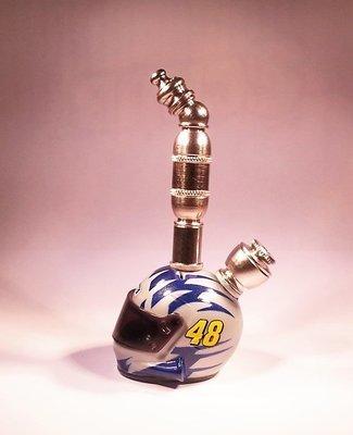 JIMMY JOHNSON #48 NASCAR DRIVER HELMET SMOKING PIPE Upright/Nickel