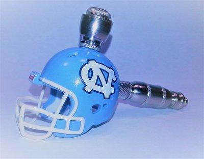 North Carolina Tar Heels Straight Football Helmet Smoking Pipe