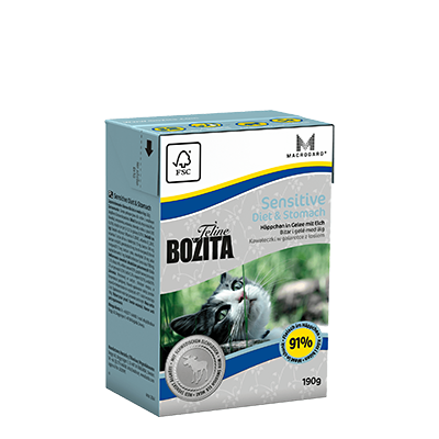 Bozita Feline Sensitive Diet &Stomach Tetra 190gr