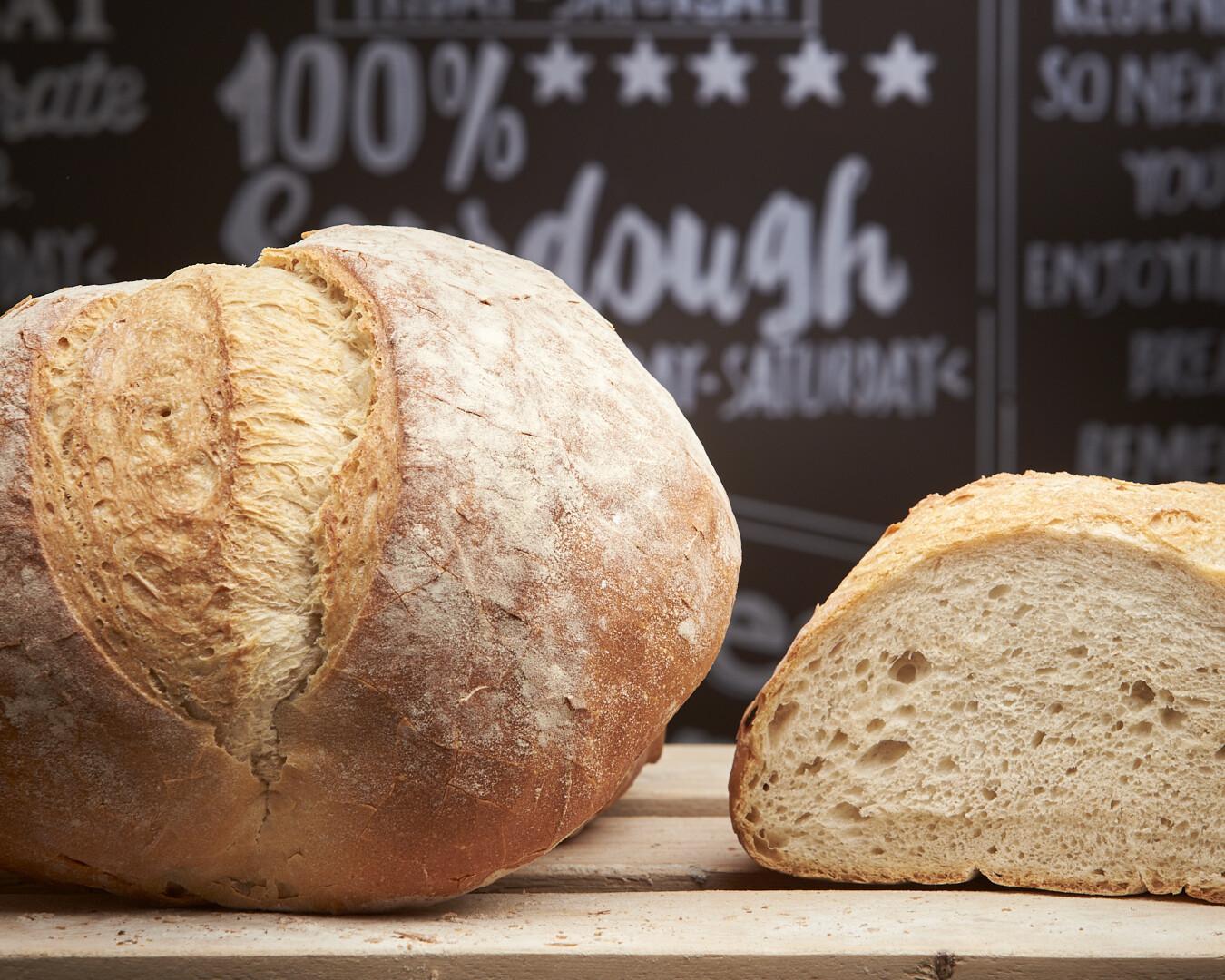 RUSTIC WHITE Loaf -organic white flour-