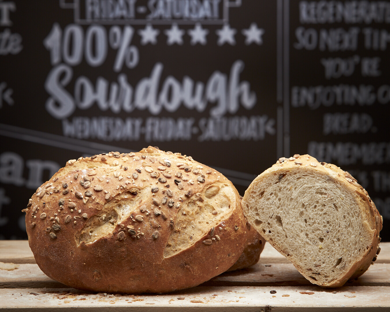 FIVE SEED WHITE loaf -organic white flour-
