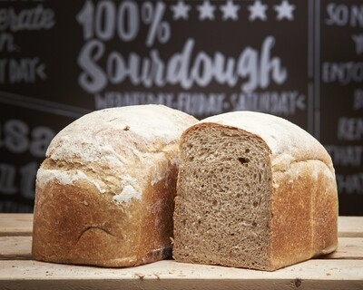 BROWN Sandwich Loaf - organic mix wholemeal flours-