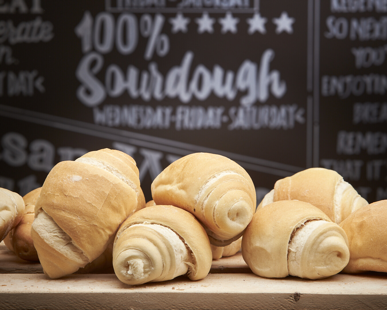 Milk Sandwich Morning Roll - organic white flours-