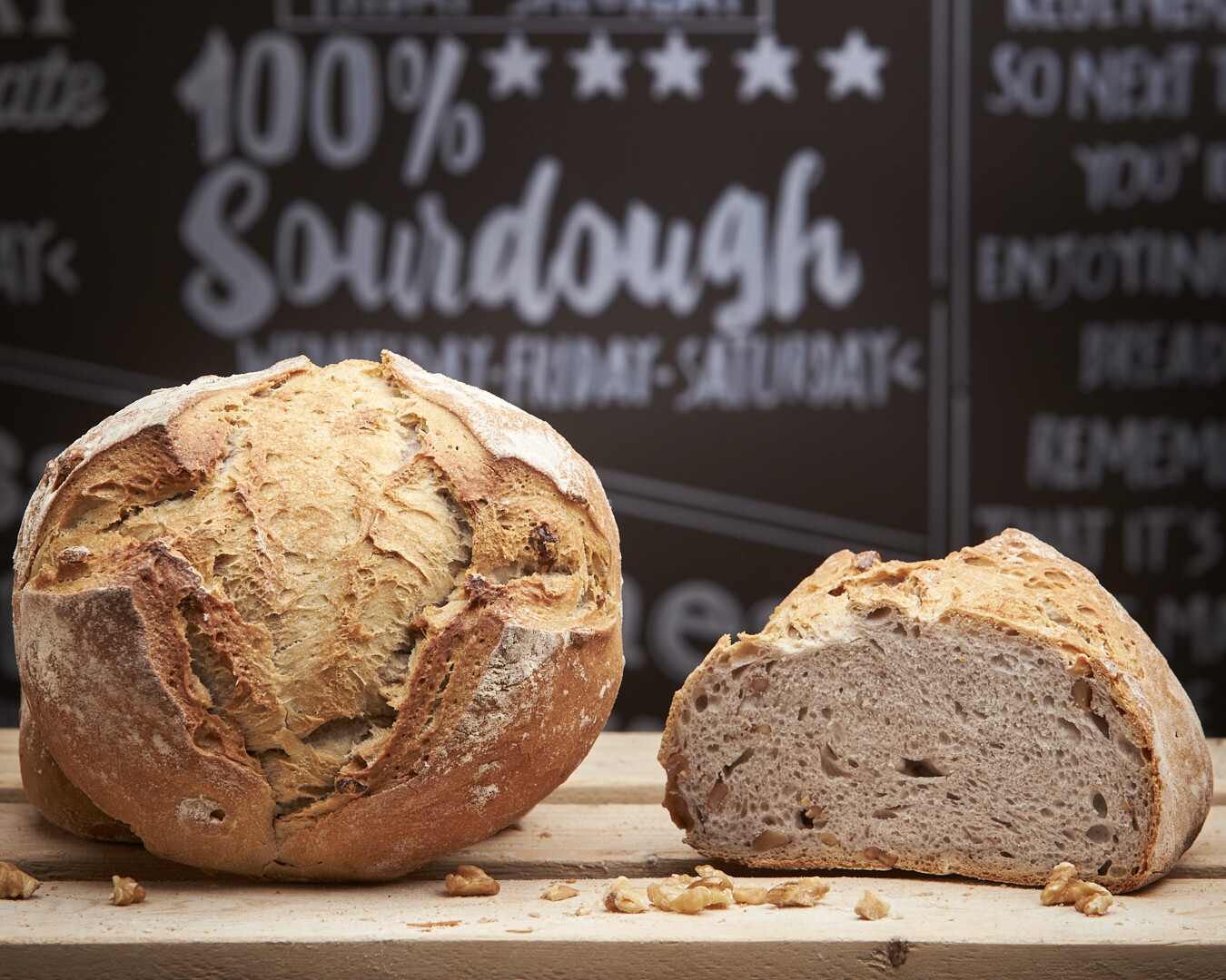 WALNUT Loaf- organic white flour-