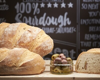 OLIVE Loaf- organic white flour-