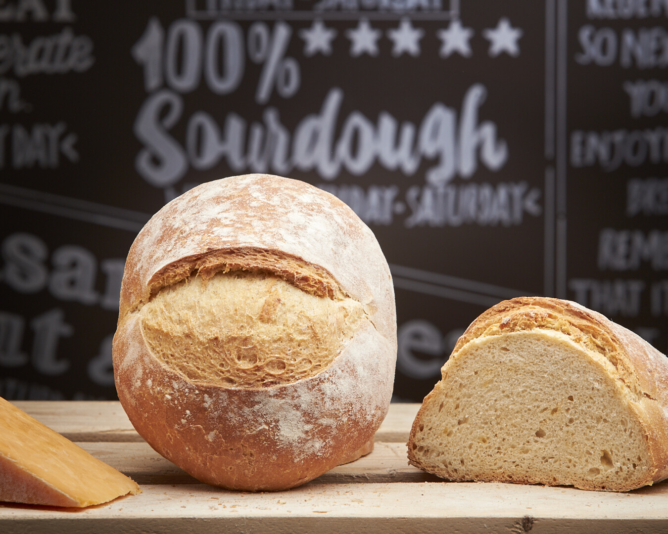 CHEESE Loaf - organic white flours-