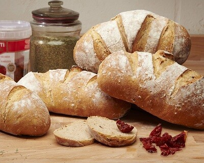 SUNDRIED TOMATOES Loaf- organic mixed flours-