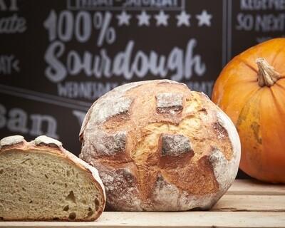 PUMPKIN Loaf - organic white flour-