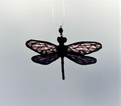 Purple Dragonfly with filigree on wings