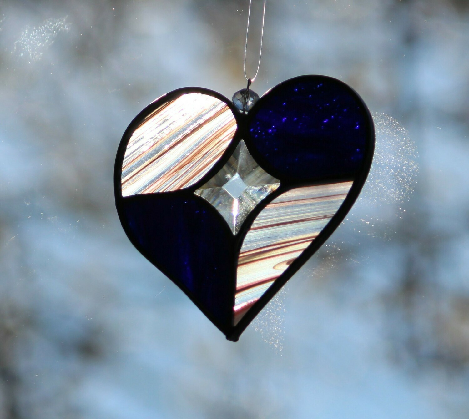 Heart with star bevel center