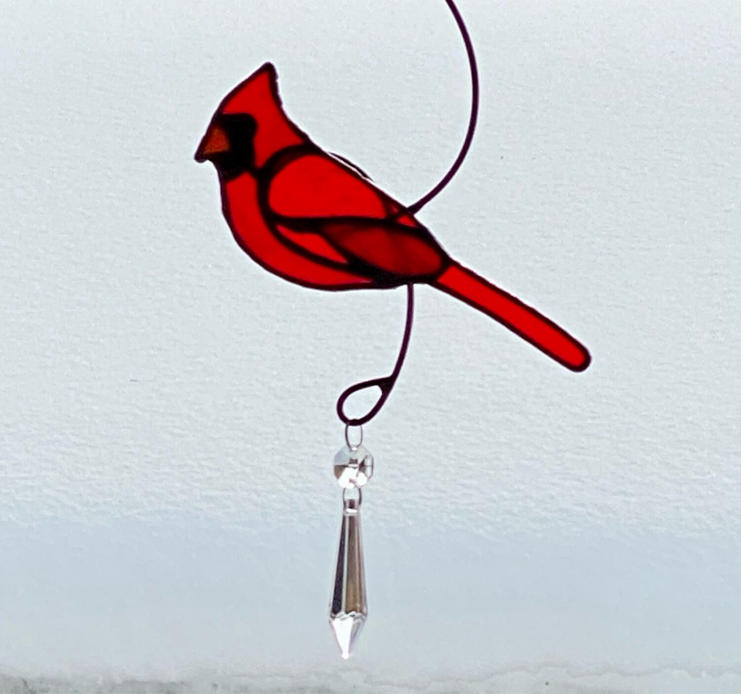 Male Cardinal with Crystals