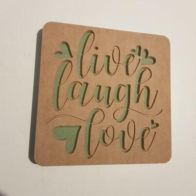 Live Laugh Love 18mm