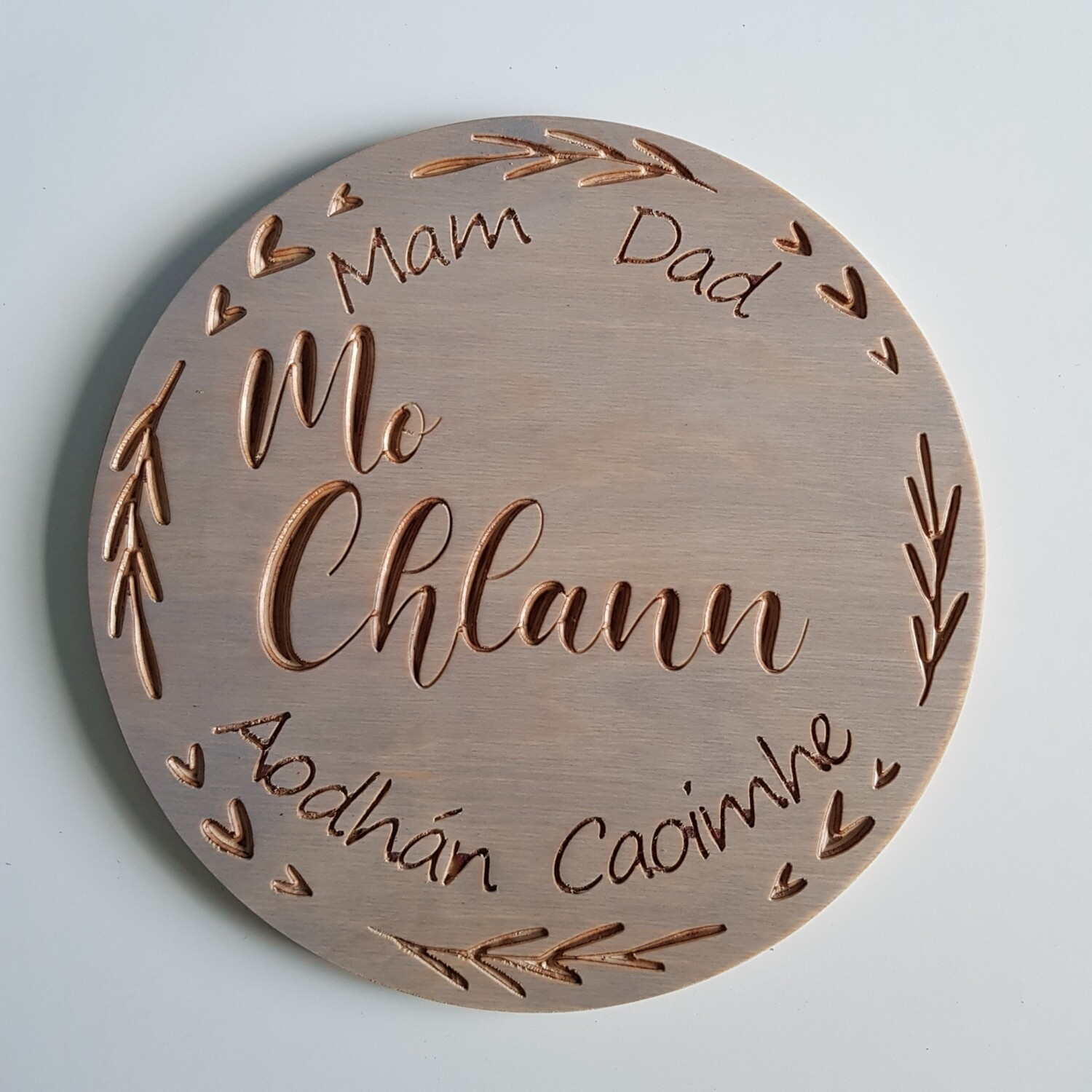 Mo Chlann Wooden Sign