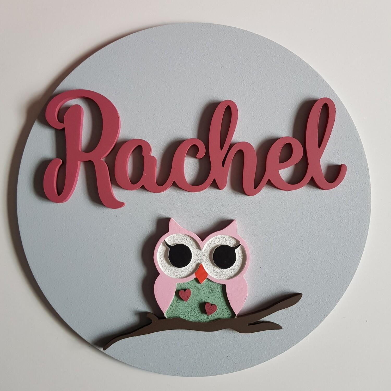 Owl Name Plaque