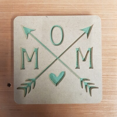Mom w/Heart and Arrows 18mm