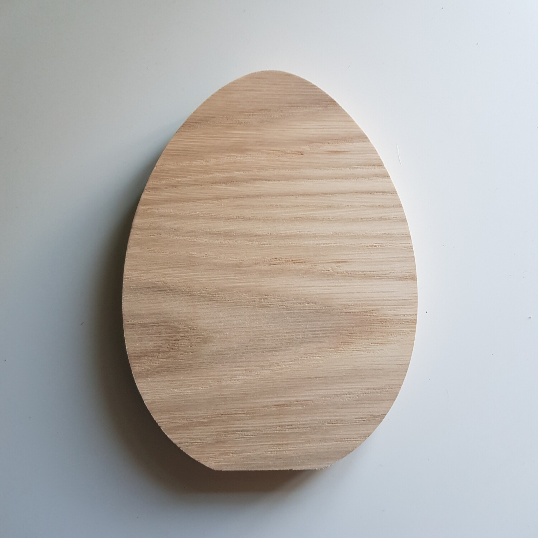 Oak Veneer Freestanding Egg Shape
