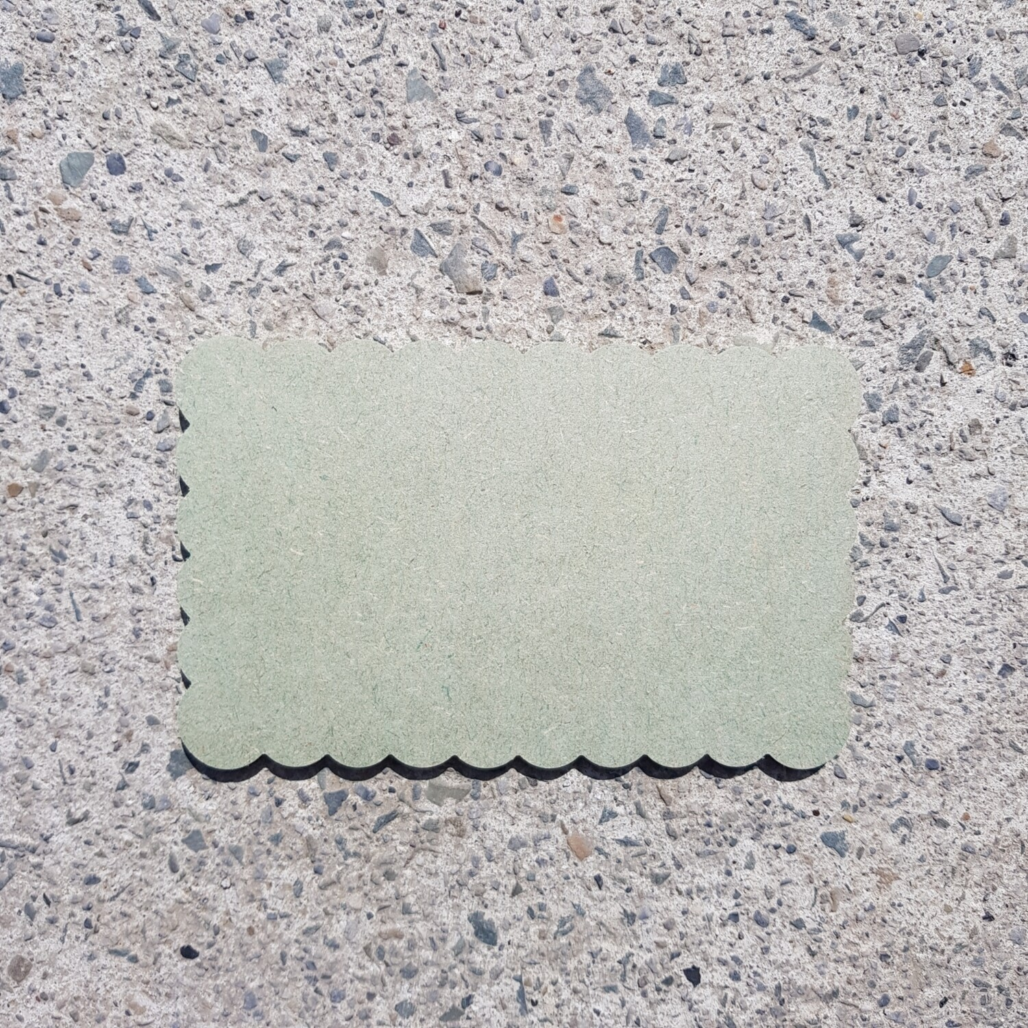 Scalloped Plaques 6mm (Style 1)