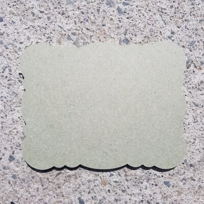 Scalloped Plaques 6mm (Style 3)