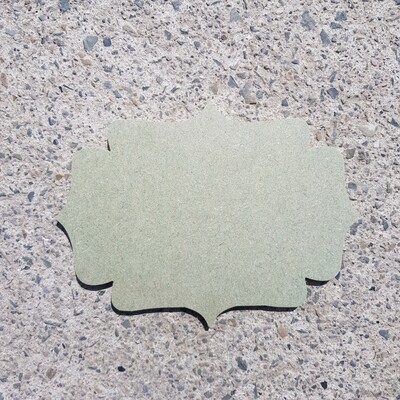 Scalloped Plaques 6mm (Style 2)