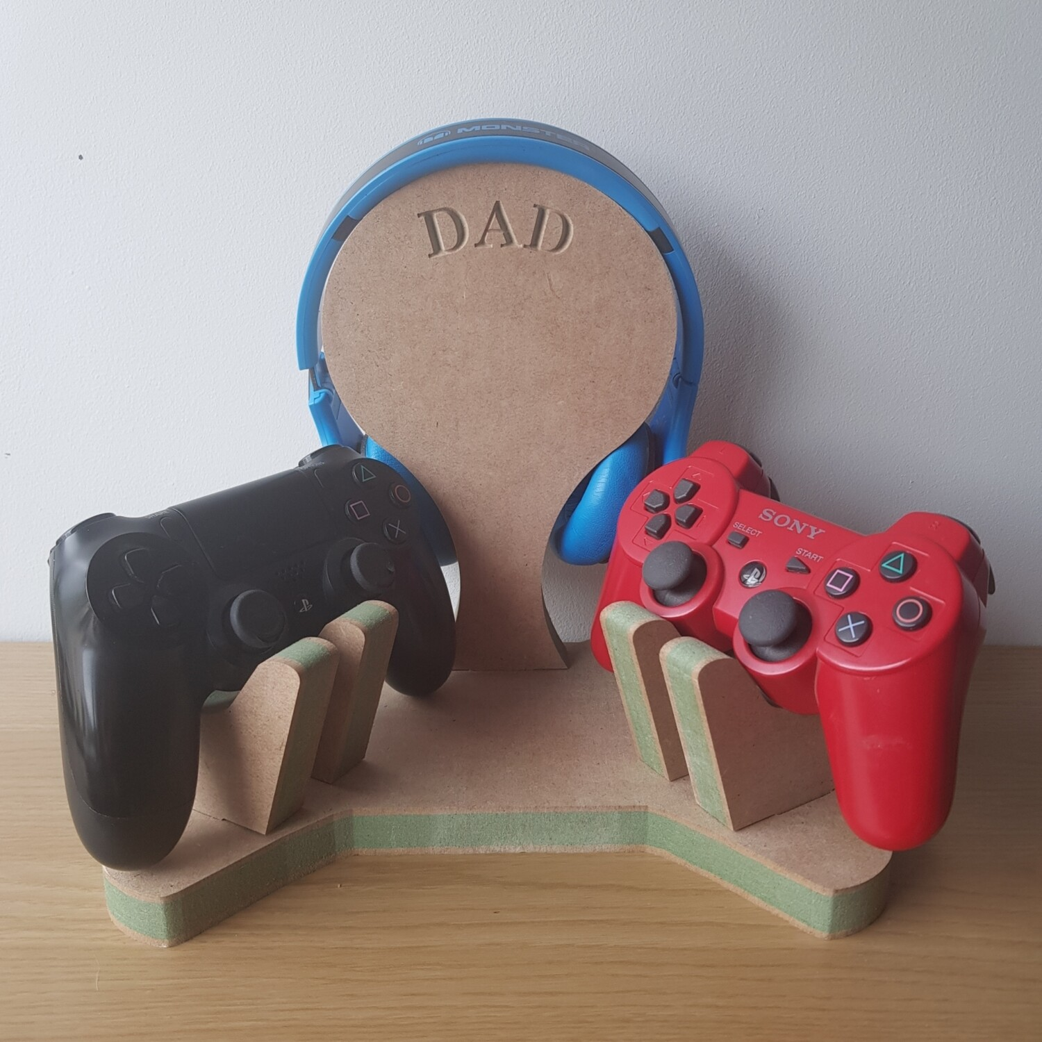 Double Controllers and Headphones Stand