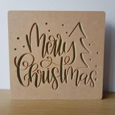 Merry Christmas w/tree 18mm