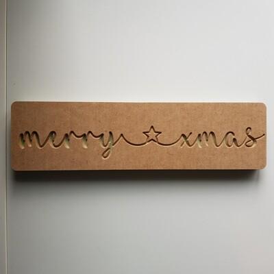 Merry Xmas w/Star 18mm