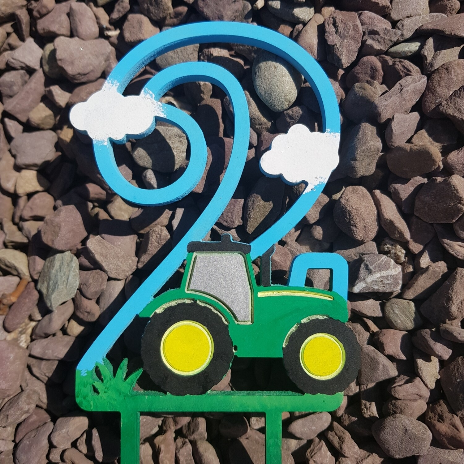 Initial with Tractor - PAINTED