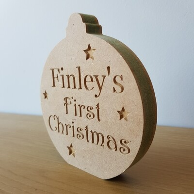 First Christmas Bauble Freestanding