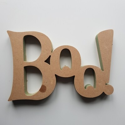 BOO! wording 18mm