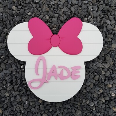 Minnie Mouse Style Plaque
