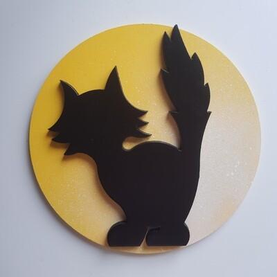 Scaredy Cat Moon Plaque