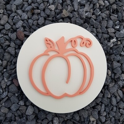 Pumpkin Cutout Plaque
