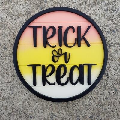 Trick or Treat Plaque