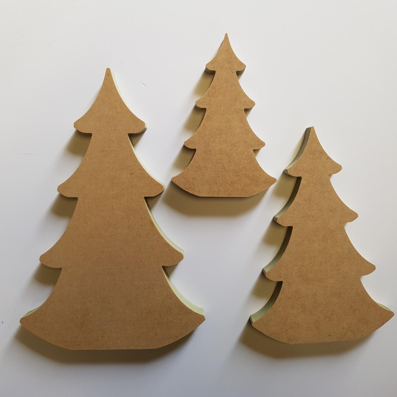 Christmas Tree Trio MDF Shapes