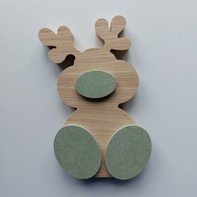 Wonky Reindeer Oak Veneer